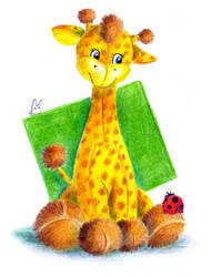 Toy giraffe and ladybird by jkBunny