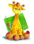 Toy giraffe and ladybird