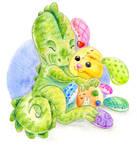 Dino and his bunny