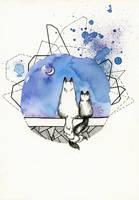 Inktober 02: Friendship by LucieOn