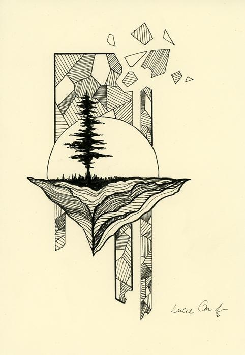 Inktober 24: Hidden Depths by LucieOn