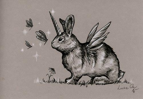 Inktober 30: A Bunnycorn