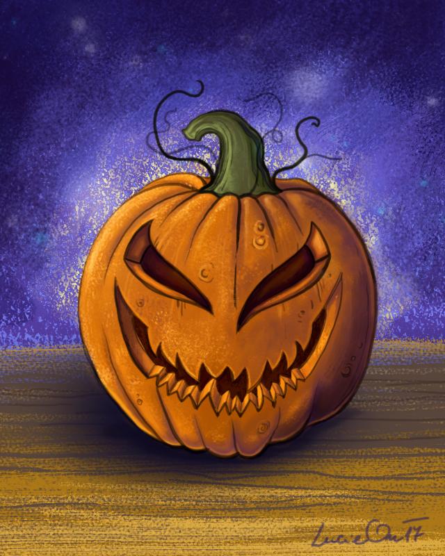 A Happy Pumpkin by LucieOn