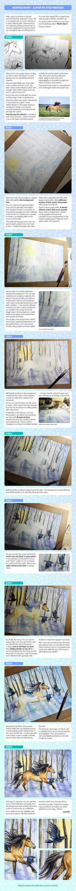 Winter Hunt Step By Step Tutorial by LucieOn