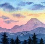Dawn in the mountains