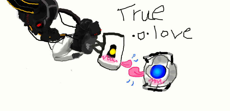 Repost Ehmagerd Glados X Wheatley Is So Kawaii By
