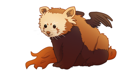 Moderately warm red panda by MarielleJ