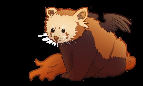Moderately warm red panda