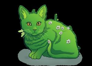 Leafy cat