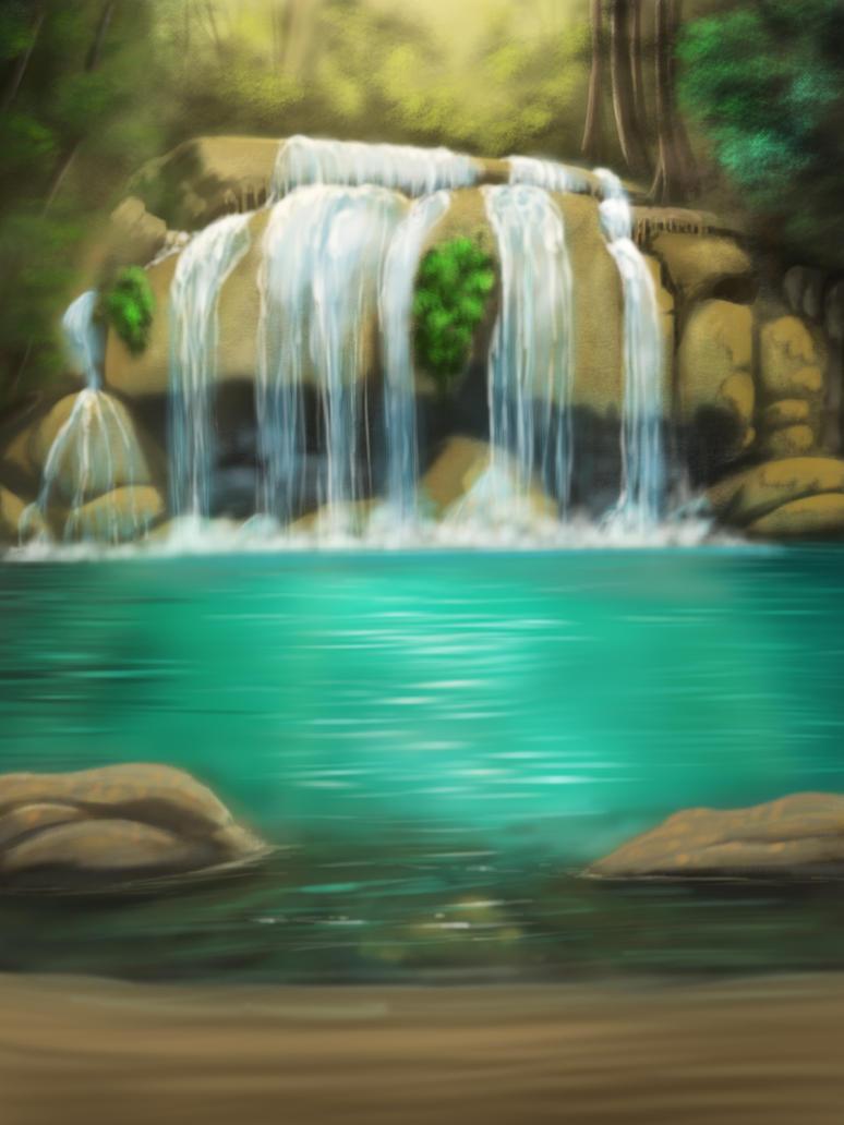 Jungle Laguna by TriasTheDinoArtist
