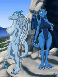 Ice Dragons by TriasTheDinoArtist