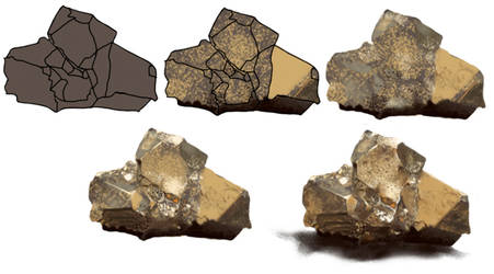 Step by Step Pyrite stone