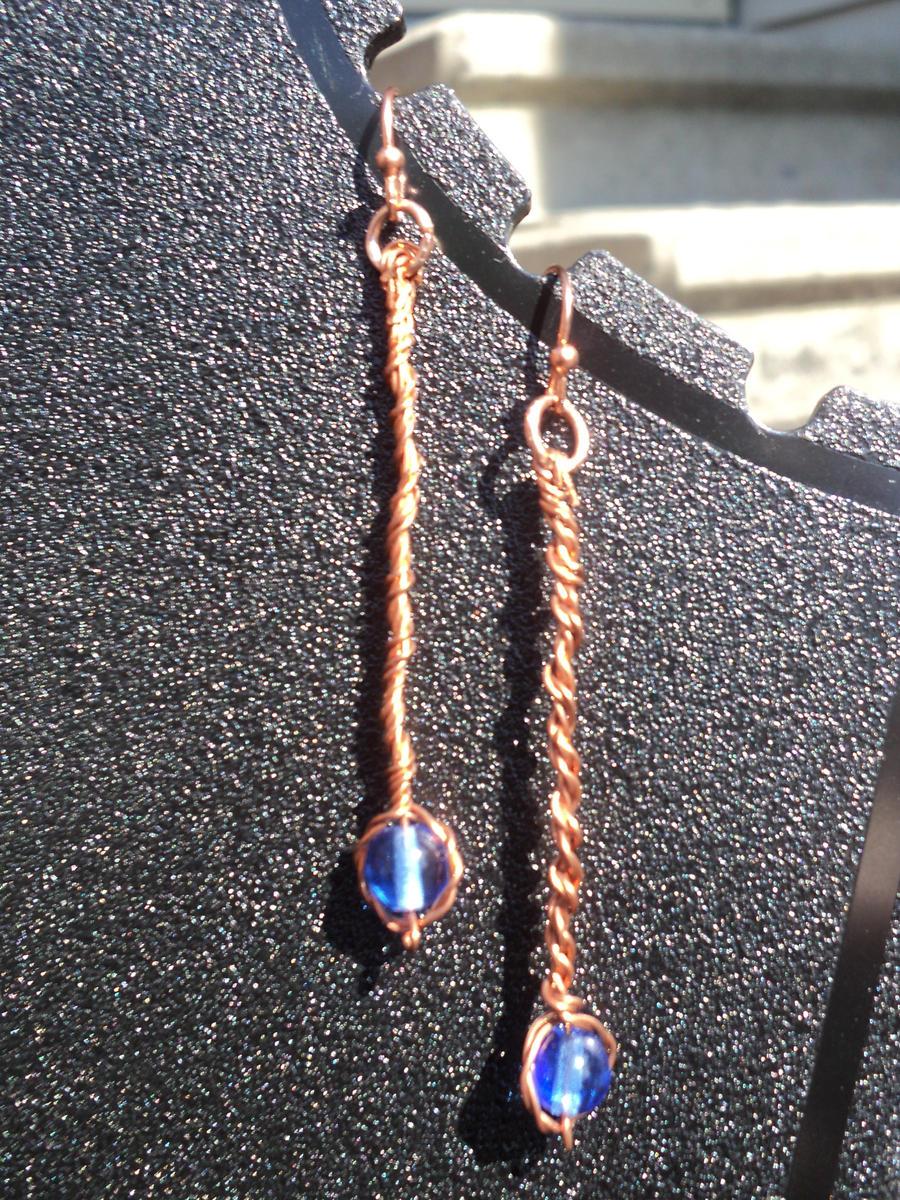 Blue Sky Earrings by ShinzuiOokami