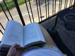 Reading on the Balcony