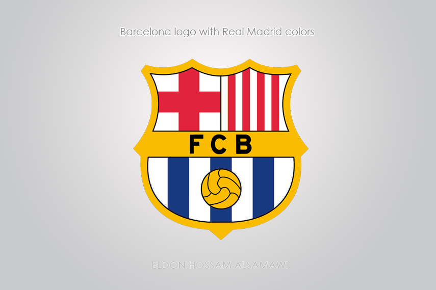 Barcelona logo with real madrid colors by eldonhossam on deviantart barcelona logo with real madrid colors by eldonhossam voltagebd Images