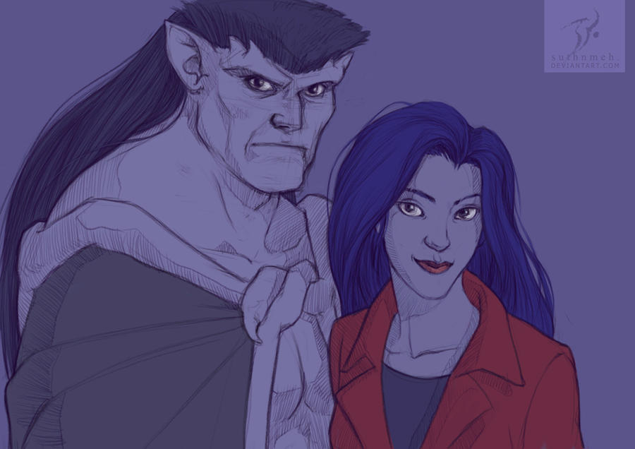 Goliath and Elisa by suthnmeh