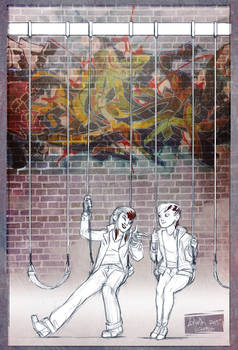 TMNT fanfic illustration - Streaks