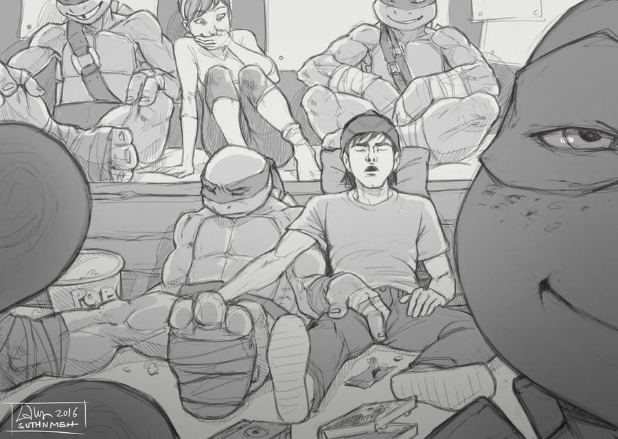 TMNT fanfic illustration: For the Album by suthnmeh