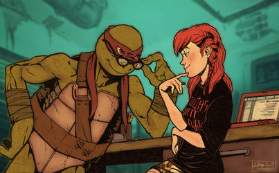 TMNT fanfic illustration - You mean irresistible