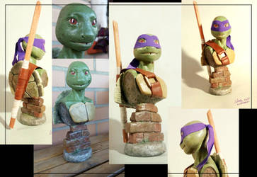 Tmnt Donatello Bust 2 by suthnmeh
