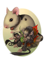 Mouse Monkeys by suthnmeh