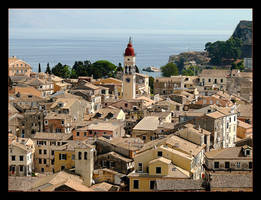 Over The Roofs Of The Town Of Corfu. Corfu Island by skarzynscy