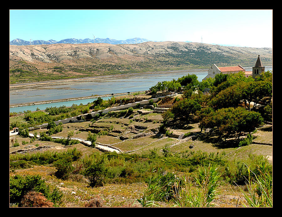 The Ruins Of The Old City Center - Pag - Croatia by skarzynscy
