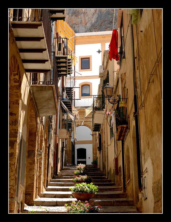 Cefalu Walkways (Sicily) by skarzynscy
