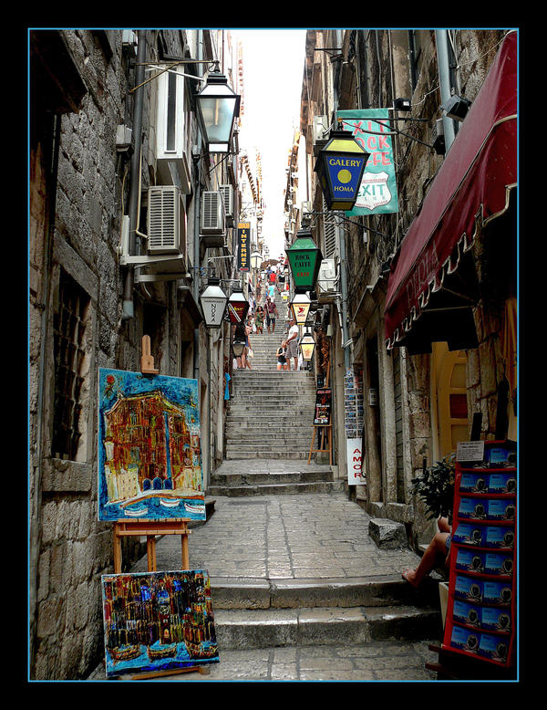 Up The Stairs - Streets Of Dubrovnik by skarzynscy