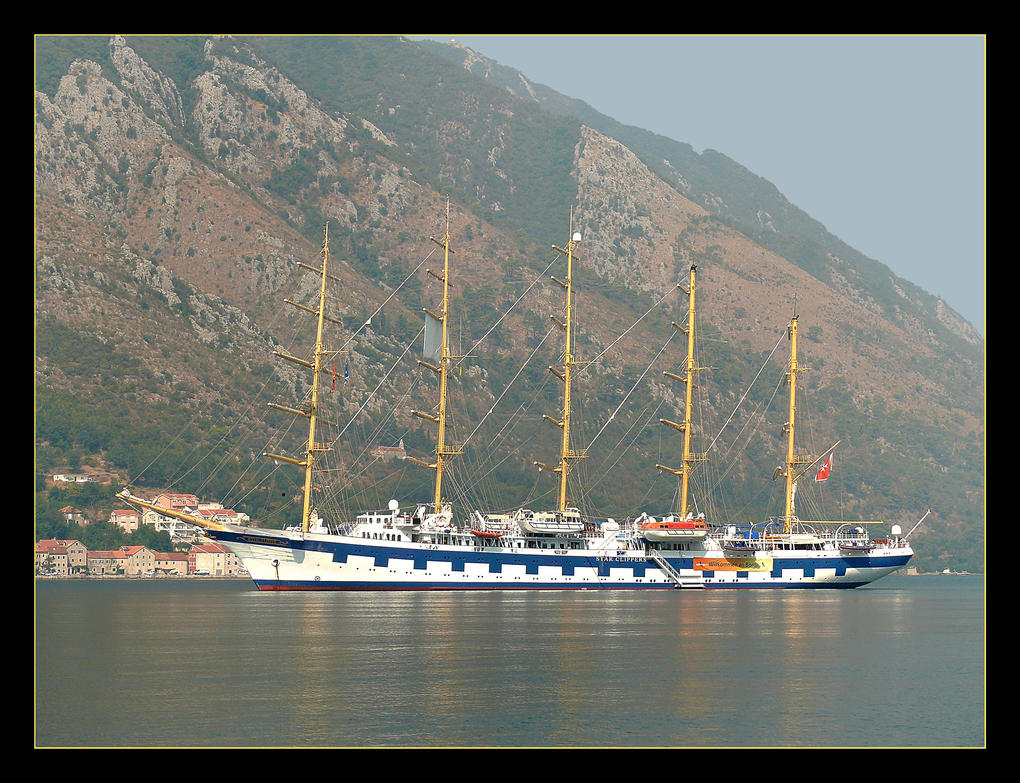 Royal Clipper - Kotor Bay - Montenegro by skarzynscy