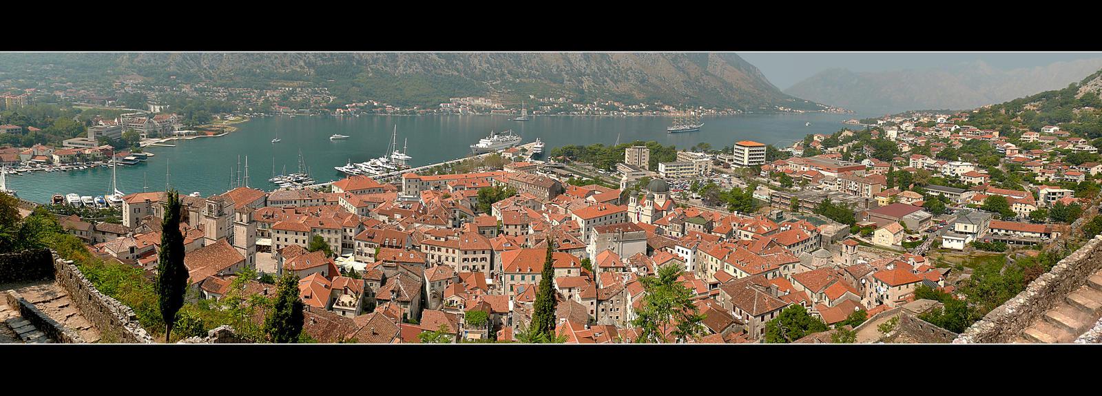 Kotor City Panorama - Montenegro by skarzynscy