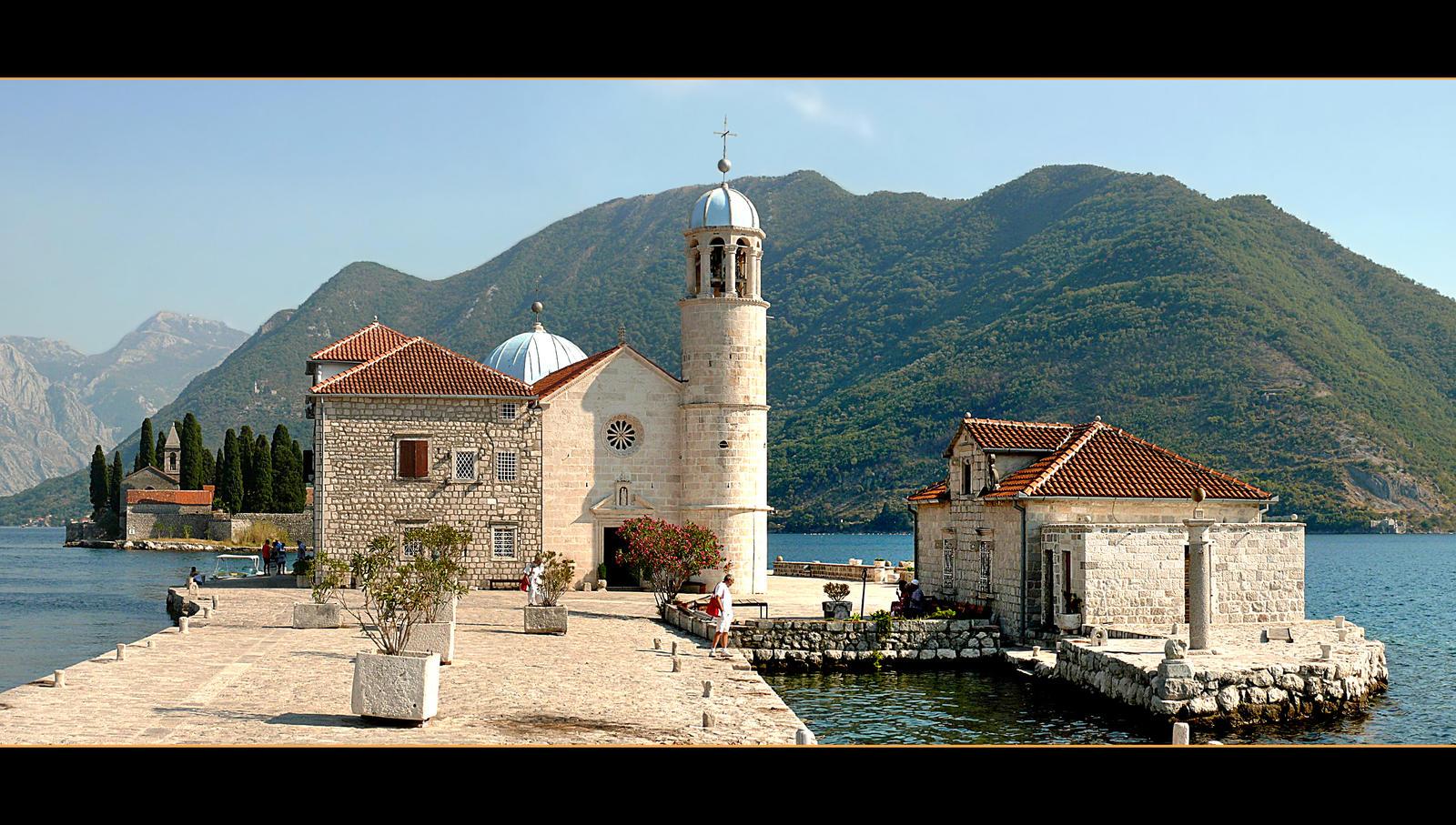 Church On Island On Kotor Bay by skarzynscy