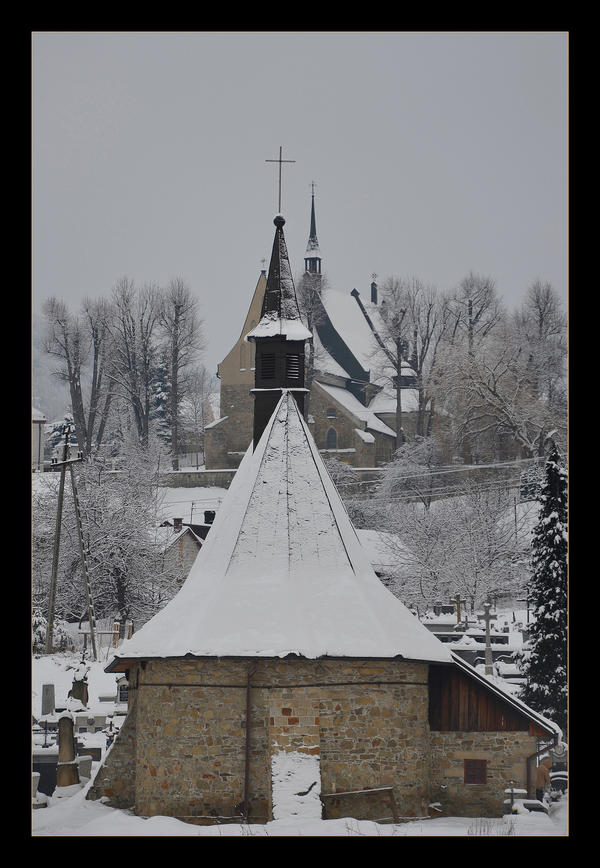 Winter's Days -Two Churches - Czchow - Poland by skarzynscy