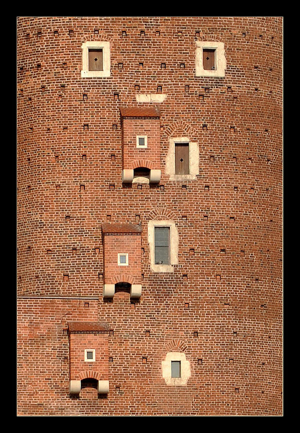 Windows And... One Of Towers Of The Wawel Castle by skarzynscy