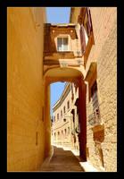 Streets In Mdina City - 2 by skarzynscy