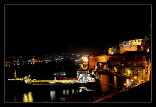 Valetta In The Night - Harbour
