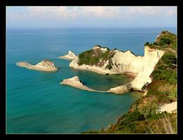 Corfu Island vs. Mediterranean Sea by skarzynscy