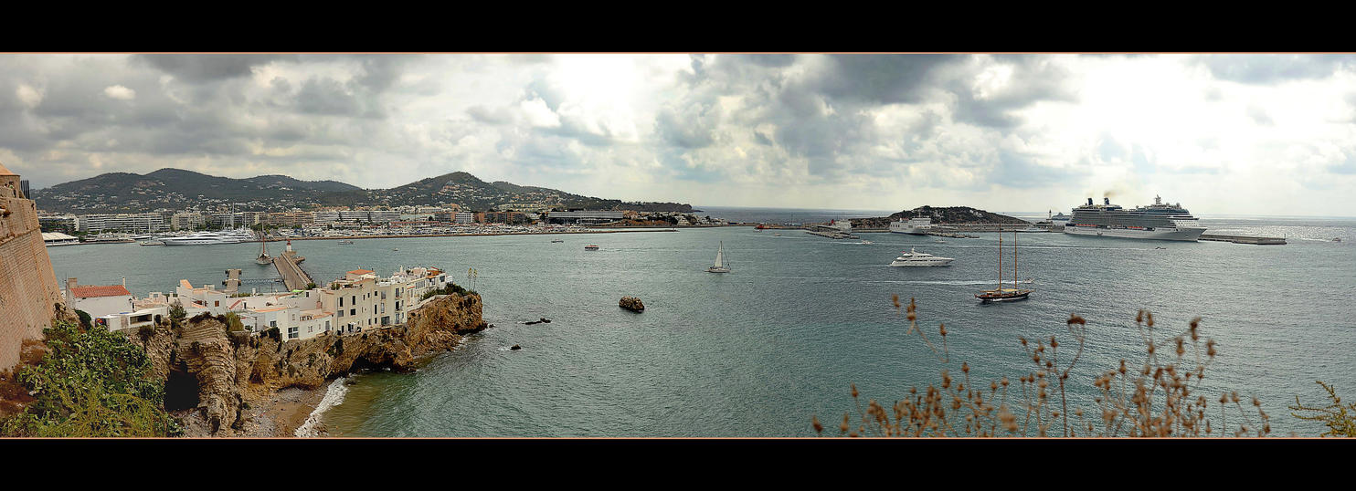 Ibiza City - Port - Panorama by skarzynscy