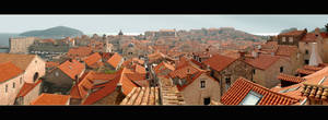 Roofs Of Dubrovnik - Panorama