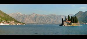 Kotor Bay And Saint George Island - Panorama by skarzynscy