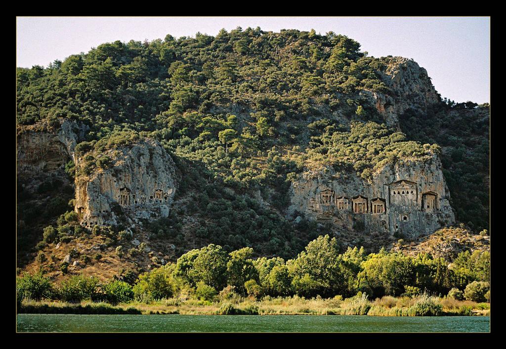 Dalyan - Rocky Tombs (analog photo) by skarzynscy