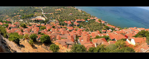 Roofs Of Molyvos - Panorama