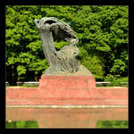 Duck And Chopin Monument In Warsaw by skarzynscy