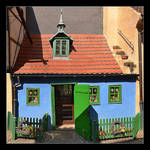 Little Blue House - Little Panorama (2 x photo)
