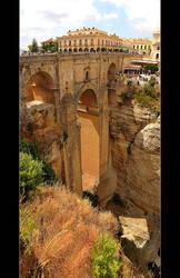 Ronda Bridge - Back Panorama by skarzynscy