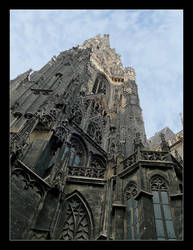 Tower Of The Cathedral Of St. Stefan In Vienna by skarzynscy