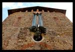 Romanesque Facade And Contemporary Eagle