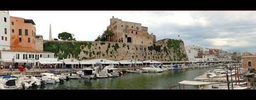 Harbour Of Ciutadella de Menorca (Panorama) by skarzynscy