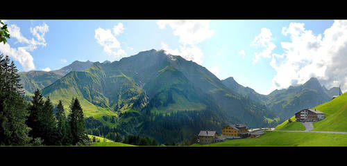 Somewhere In Alps - Panorama