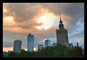 A Stormy Evening Over The Center Of Warsaw
